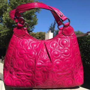 Coach purse fuchsia / pink small bag satchel
